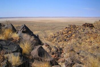 Haskeen Pan, Bloodhound Land Speed attempt, 100 km2 of dry salt lake, Kalahari, Northern Cape