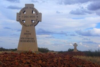 Scandinavian memorial, Battle of Magersfontein near Kimberley, Diamond Fields, Northern Cape